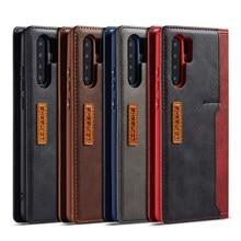 Telefon Fall Für Huawei P30 P20 Pro Mate20 Lite Magnetische Echte Echtem Leder Abdeckung Flip Brieftasche Fällen Für Huawei Mate 20 Pro Coque