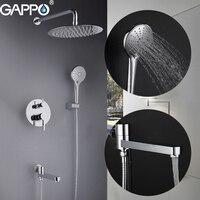 GAPPO Shower Faucets bathroom shower faucet set bath shower head set mixer bathroom waterfall rain shower panel bath faucet
