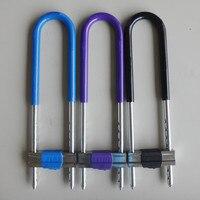 Anti - theft alloy steel U Shape Lock padlock sliding double door locks glass door locks hardware and tools