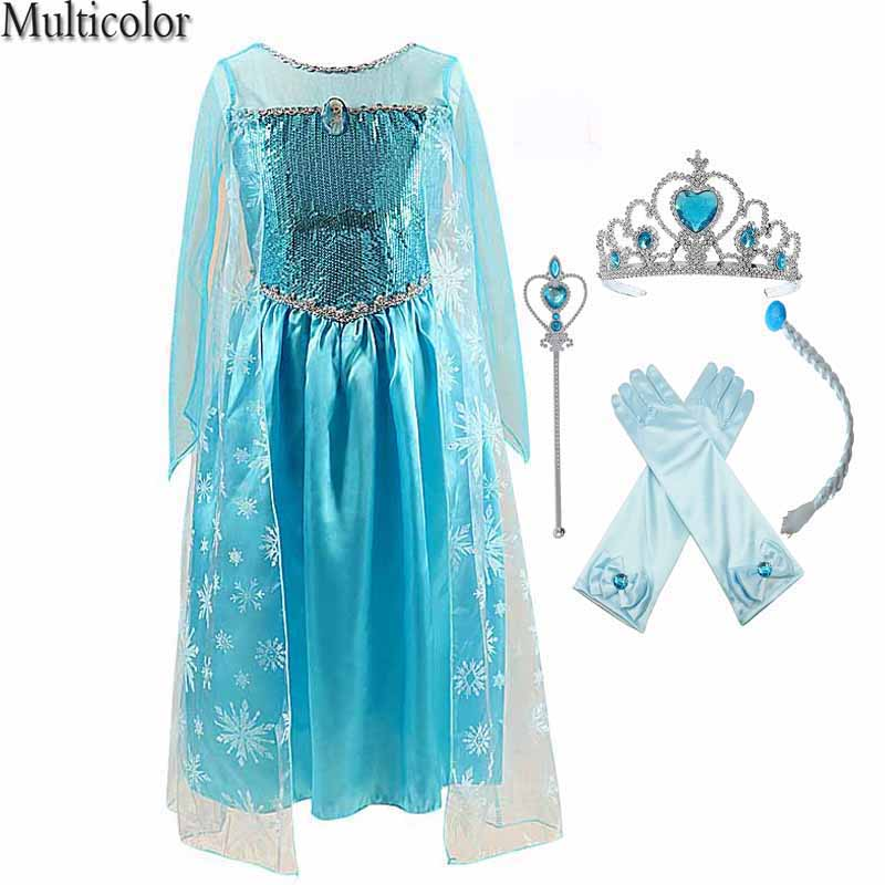 38a2d07edda4e SıCAK Satış Yeni 2015 Kız Moda Serin Karikatür Elsa & Anne Elbise KAR  Prenses Elbise Çocuk Çocuklar Parti Cosplay Elbise DCR08