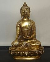 Arts Crafts Copper Elaborate Tibetan Buddhis shakyamuni brass buddha statue