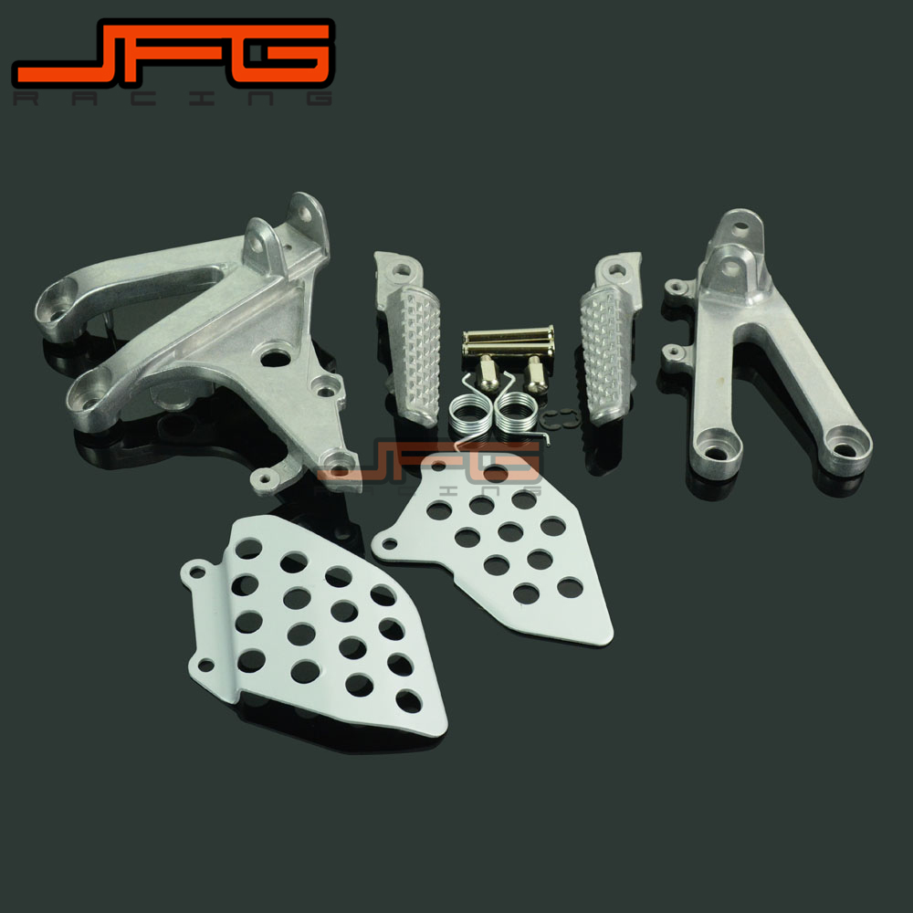 все цены на Footrests Front Foot Pegs Pedals Rest Footpegs For HONDA CBR600RR CBR 600 RR 2007-2014 07 08 09 10 11 12 13 14 Motorcycle онлайн