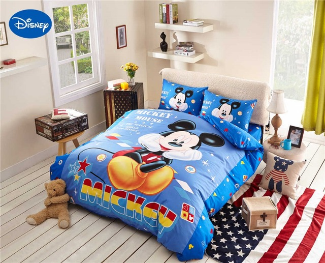 dessin anim de disney literie d 39 impression ensemble coton. Black Bedroom Furniture Sets. Home Design Ideas