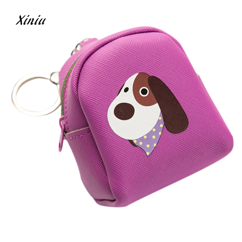 Cute Cartoon Animal Pattern Women Girls Fashion Snacks Coin Purse Wallet Bag New Zipper Small Leather Change Pouch Key Holder