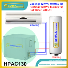 400L/H heat pump water heater with 40,000BTU air conditioner  need only 4.3KWH power input, super engery saving heater
