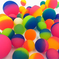 10pcs rubber double colors bouncing ball,bouncy Frosting play balls toys for children kids pets,birthday party gifts promotion