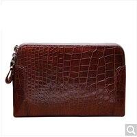 luolaini crocodile Leather man handbag business hand bag leather hand grab bag large size wallet Bag