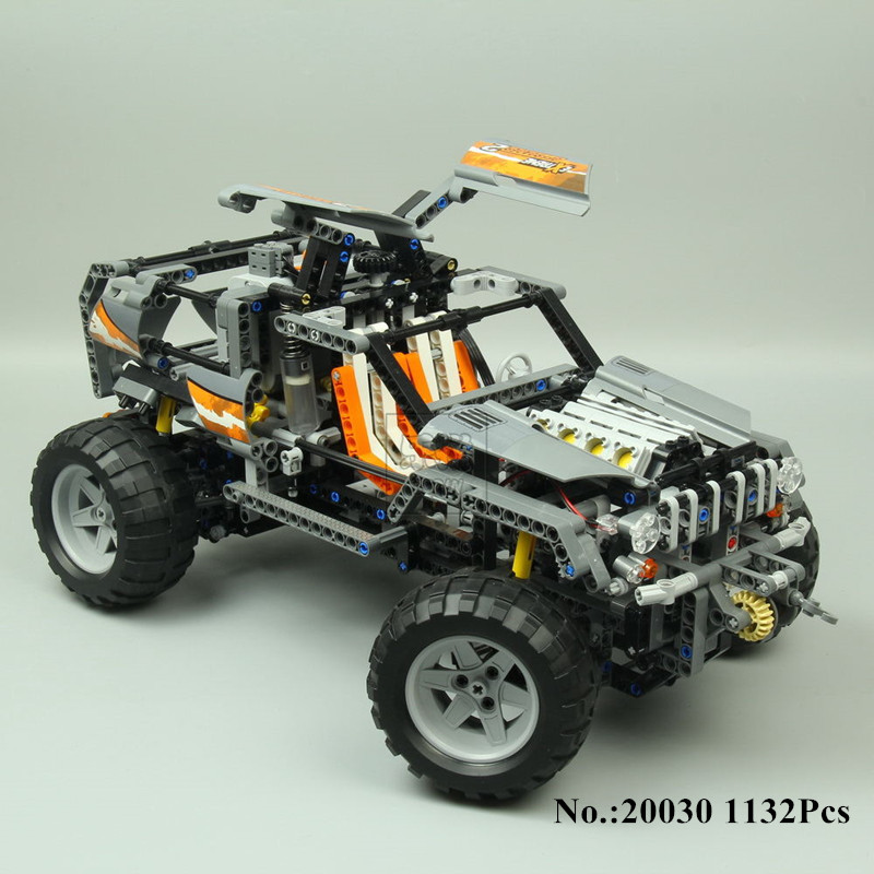 H&HXY In-Stock 20030 1132Pcs Ultimate Series The Off-Roader Set Children Educational Building Blocks Bricks lepin Toys Model lepin 20030 technic ultimate series the 1132pcs off roader set children educational building blocks bricks toys model gifts 8297