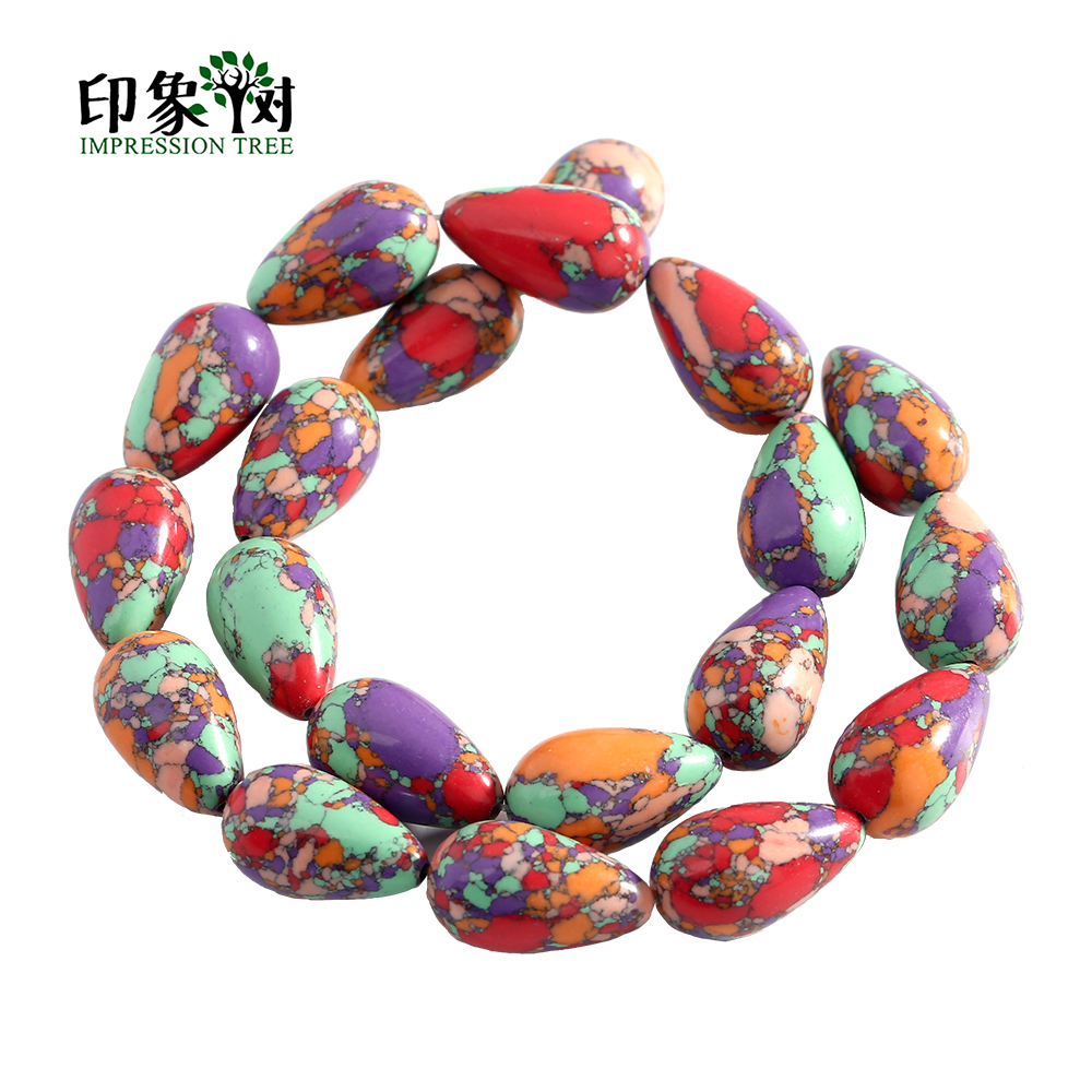 12X2010X407X3010X30mm 7pcs Natural Stone Long Teardrop Beads Drop Pressed Beads Gocce Beads Fit For DIY Jewelry Making 2515