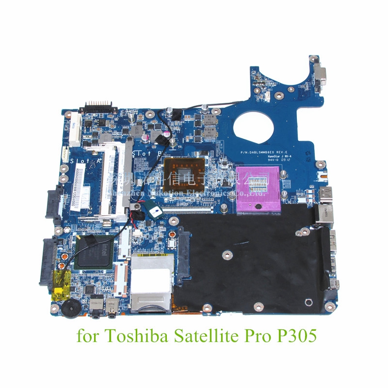 DABL5MMB6E0 A000040050 Main board For Toshiba Satellite Pro P300 P305 laptop motherboard GM45 DDR2 without graphics slot nokotion for toshiba satellite a100 a105 motherboard intel 945gm ddr2 without graphics slot sps v000068770 v000069110