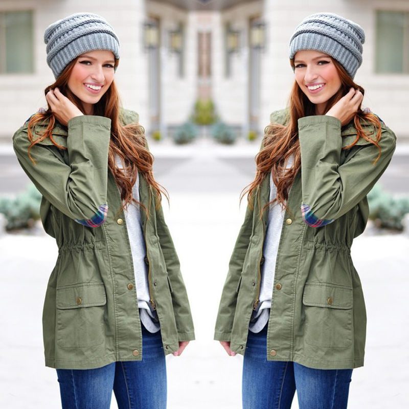 2015 Winter Women's Warm Fashion Hooded Long Coat Jacket Trench ...