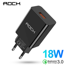 ROCK Quick Charge 3.0 USB QC3.0 Wall Mobile Phone Charger Fa