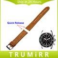 20mm 22mm correa de piel genuina correa de liberación rápida para breitling hombres mujeres reloj de pulsera de acero inoxidable hebilla pulsera