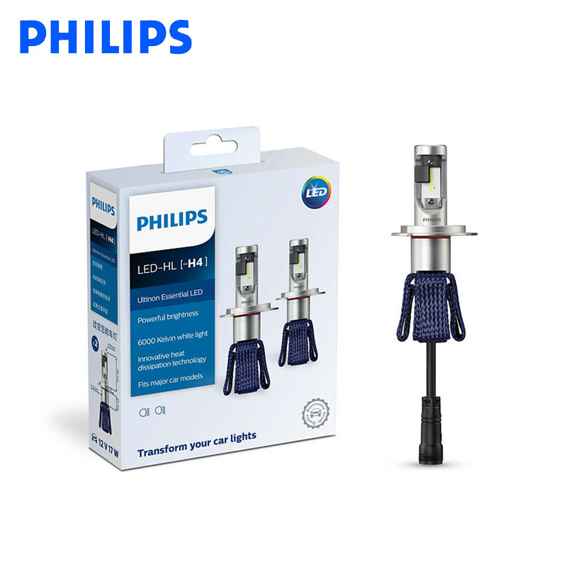 Philips LED H4 H7 9003 Ultinon essentiel LED voiture salut/lo faisceau 6000K blanc lumineux lumière Auto phare H8 H11 H16 9005 9006 HB3 HB4