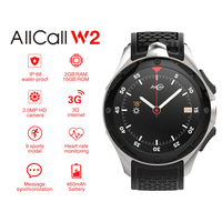 ALLCALL W2 3G Smartwatches Android 7.0 Phone IP68 waterproof GPS Wifi Bluetooth Smart Watch 2GB RAM 16G ROM Camera SIM Video
