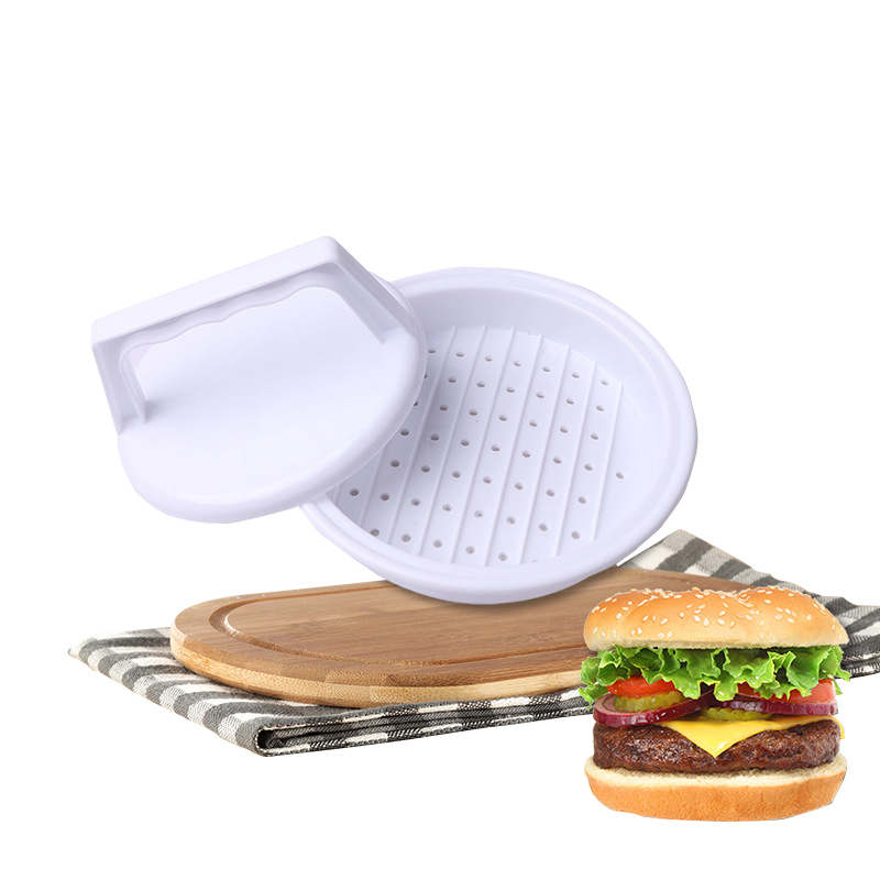 1 Set Plastic Round Hamburger Meat Pie Mould Manual Meat Maker Presses Pie Tool image