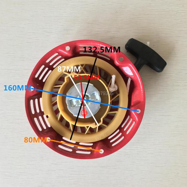 بادئ حركة ارتدادي بدء إصلاح جزء يناسب هوندا GX160 GX200 الصينية 168F 5.5HP 6.5HP مولد المحرك