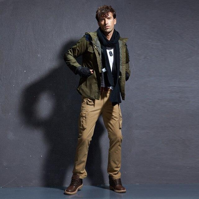 Camouflage Military Pants Men Men's Cargo Army Trousers Mens Tactical Militari Baggy Camo Pants Winter Warm Denim Pants.FA01 66