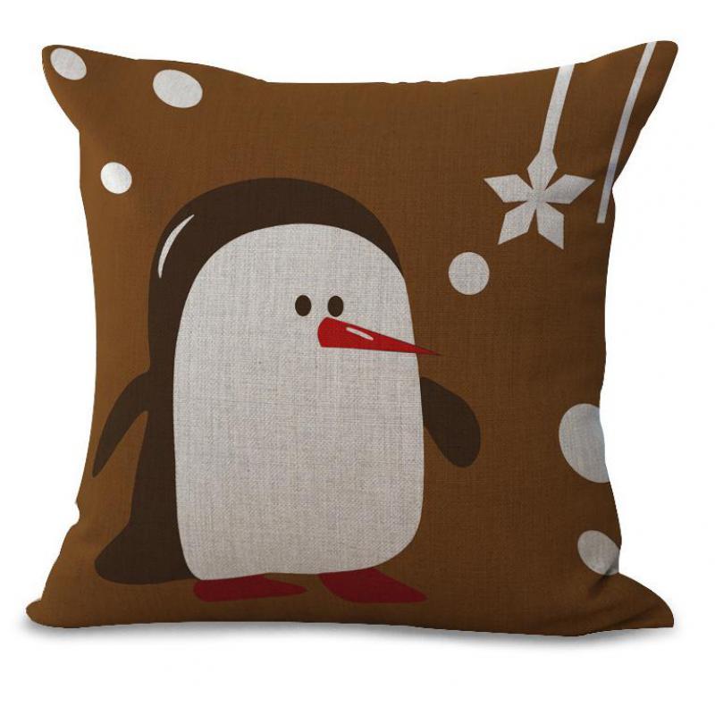 8d7be5bcb8 45 45 Centímetros Bonito Dos Desenhos Animados de Natal Elk Papai Noel  Impressão Cotton Linen Decorativa Lance Fronha de Almofada Para Caçoa o  Presente
