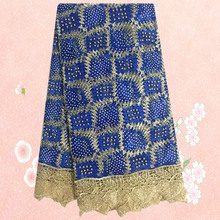(5yards/lot) SKN61,top quality African tulle lace fabric for lady dress, hot selling French lace fabric with stones