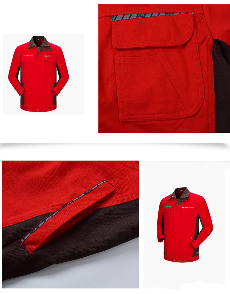 Image 4 - Men Women Work Clothing Set Long sleeve Jacket and Plants Work Overalls Working Uniforms For Factory Welding Machine Repair-in Safety Clothing from Security & Protection