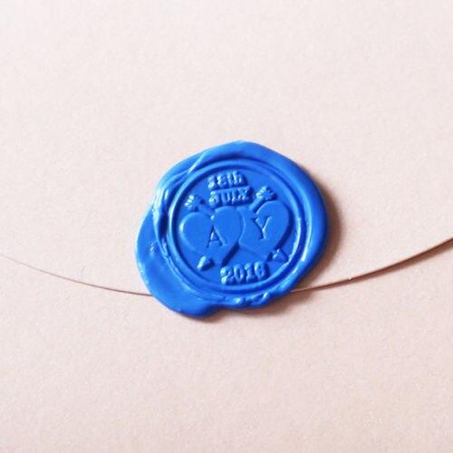 Personalized heart Initials Wax Seal Stamp wedding logo invitation wax seals