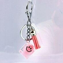 Glass Crystal Zinc Alloy Korean Fashion Car Buckle Accessories keychain in lot fashion key chain