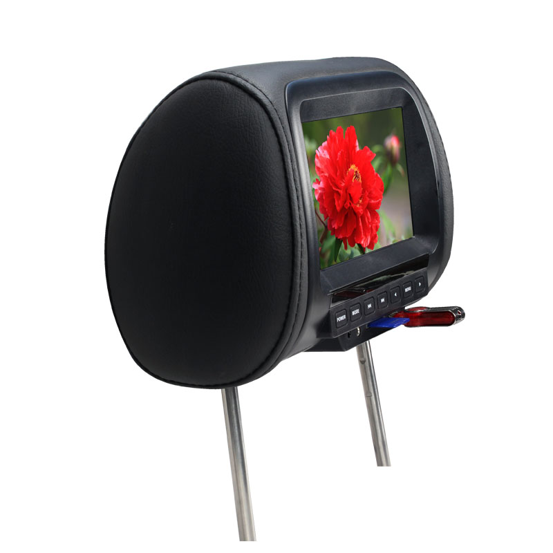 Image 4 - Universal 7 inch Car Headrest MP4 Monitor / Multi media Player / Seat back MP4 / USB SD MP3 MP5 FM Built in Speakers-in Car Monitors from Automobiles & Motorcycles