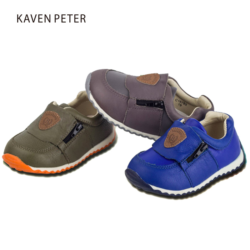 Genuine Leather shoes kids 2017 Autumn children casual shoes Girls Brand Kids Leather Boys Sneakers fashion sports boys shoes kids shoes girls boys pu leather lace up high children sneakers girl baby shoes sport autumn winter children shoes