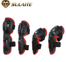 SULAITE Motorcycle MTB Bicycle Knee Protector BMX DH Bike Skating Skateboard Elbow Pads + Knee Pads Set Knee Brace Support destroyer pro elbow xl purple skateboard pads