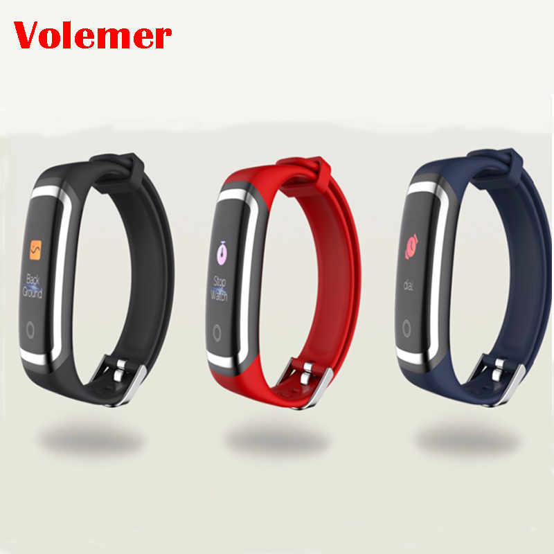 Volemer Smart bracelet M4 Color screen Waterproof wristband heart rate monitor Blood pressure measurement Fitness tracker band