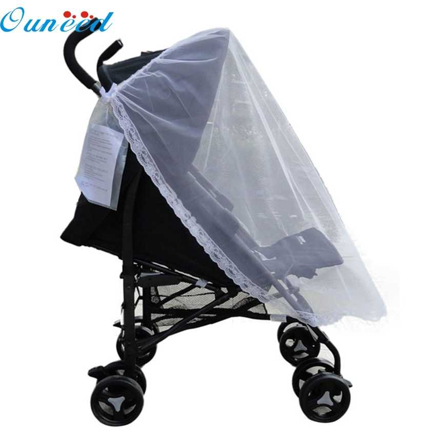 Ouneed Lovely Pets Factory Price Universal Lace Safe Baby Carriage Insect Mosquito Net or Baby Stroller Cradle Bed Net Aug25
