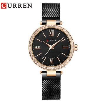 Modern Style CURREN Luxury Brand Gold Women Slim Watches Ladies Dress Steel Bracelet Watches Female Gift Clock Montre Femme 9011