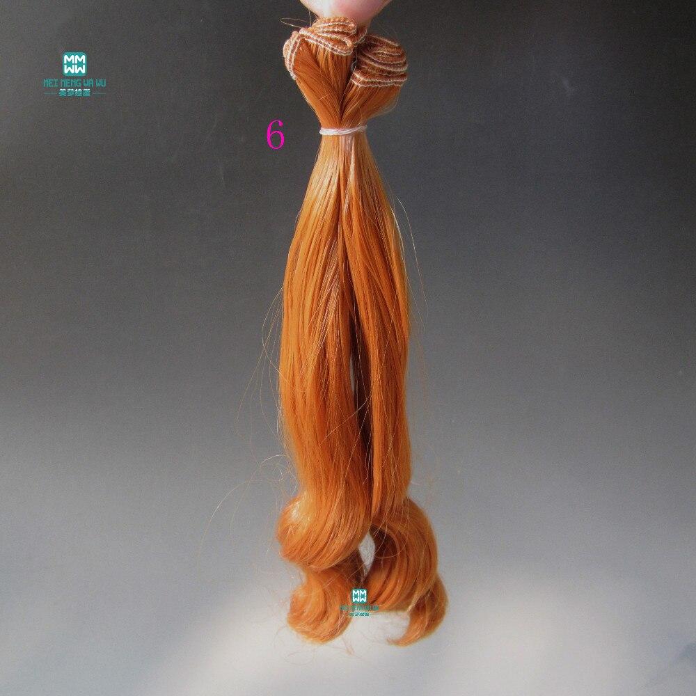 1kom 20cm * 100cm Veliki valovi kovrče Doll perika Pribor kose za - Lutke i pribor - Foto 6