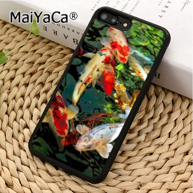 Maiyaca Koi Carp Fish Interest Phone Case Cover For Iphone 4 5 5s Se 6 6s 7 8 X Xr Xs Max Samsung Galaxy S6 S7 Edge S8 S9 Plus Delicious In Taste Phone Bags & Cases