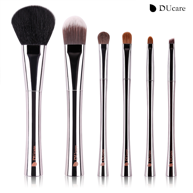 DUcare 6pcs Makeup brush set Luxury Brushes with Bag the most Nice and Most Amazing Makeup Brushes Beauty Essential brushes twelve makeup brushes set
