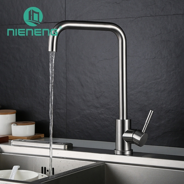 Nieneng 304 Stainless Steel Kitchen Tap Faucets Kitchen Sink Drinking Water  Faucet For Filtered Mixer Fittings