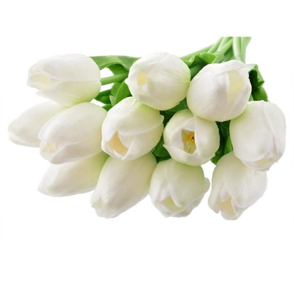 12pcslot tulips artificial flowers pu fake flower bouquet real 12pcslot tulips artificial flowers pu fake flower bouquet real touch home wedding decorative simulation flowers in artificial dried flowers from home izmirmasajfo