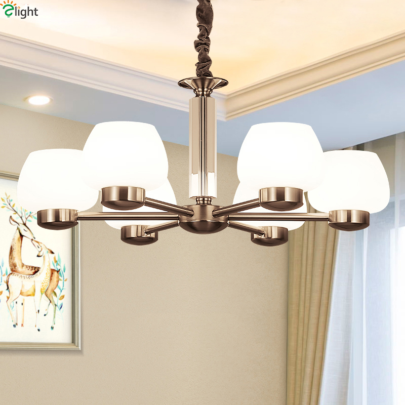 Modern Nickel Led Chandeliers Lighting Living Room Crystal Led Pendant Chandelier Lamp Hanging Lights Fixtures For Dining Room led crystal chandeliers lamp round ring hanging lights modern led crystal chandelier fixture for living room lobby ac110v 240v