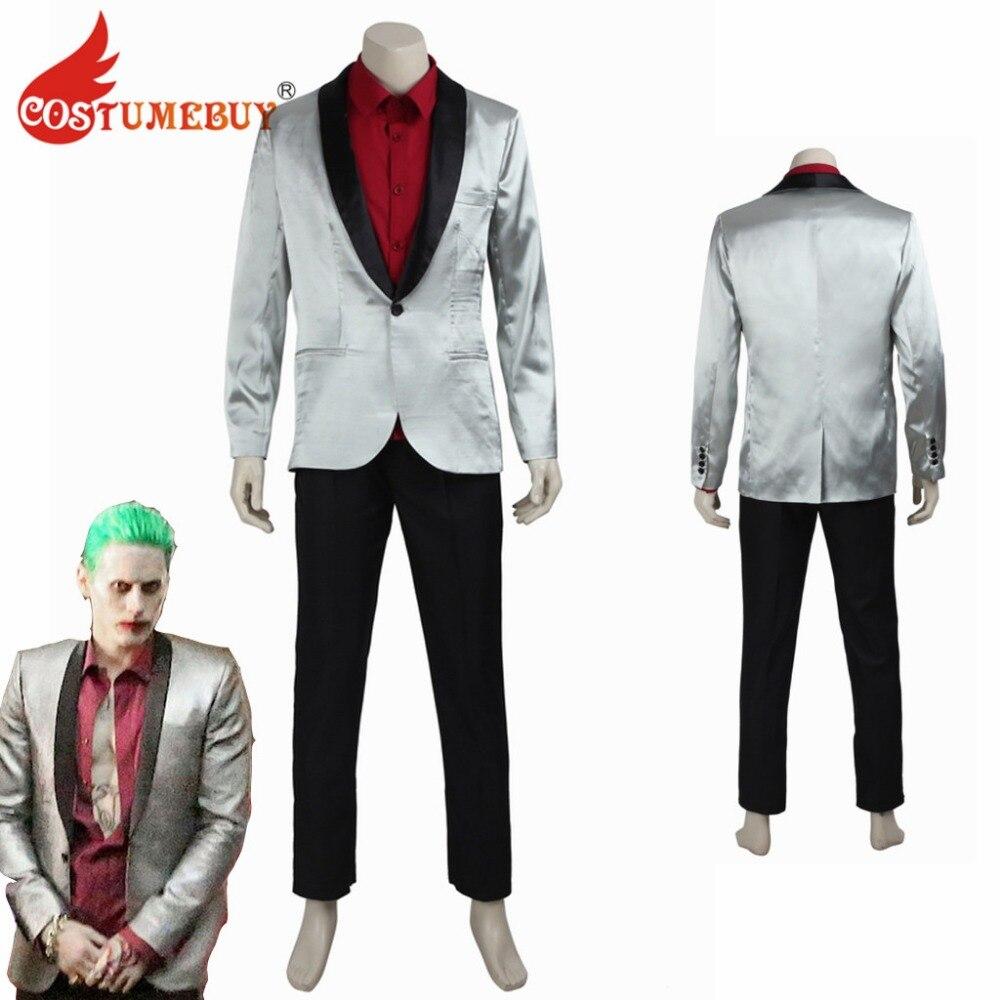 Batman Suicide Squad Cosplay Joker Costume Psychos Killers Outfit Halloween Suit