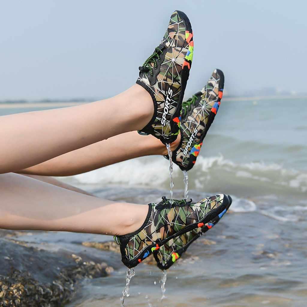 CHAMSGEND Sıcak satış erkekler ve kadınlar moda rahat plaj dalış ayakkabıları dalış ayakkabı çift sığ ayakkabı su ayakkabısı