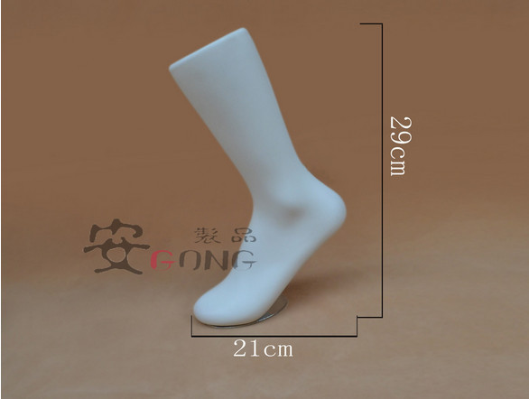 2PCS Female Foot Sock Sox Display Holder Mold Short Stocking Mannequin White US