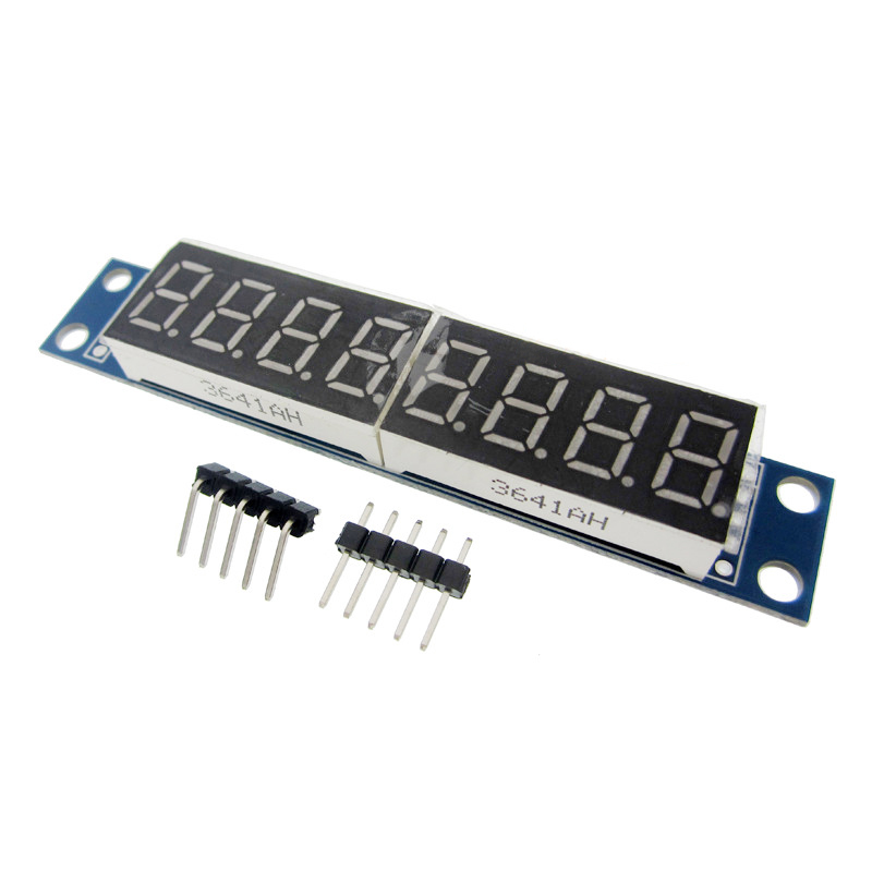1pcs/LOT MAX7219 Module 8-Digit 7 Segment Digital LED Display Tube MCU dmx512 digital display 24ch dmx address controller dc5v 24v each ch max 3a 8 groups rgb controller