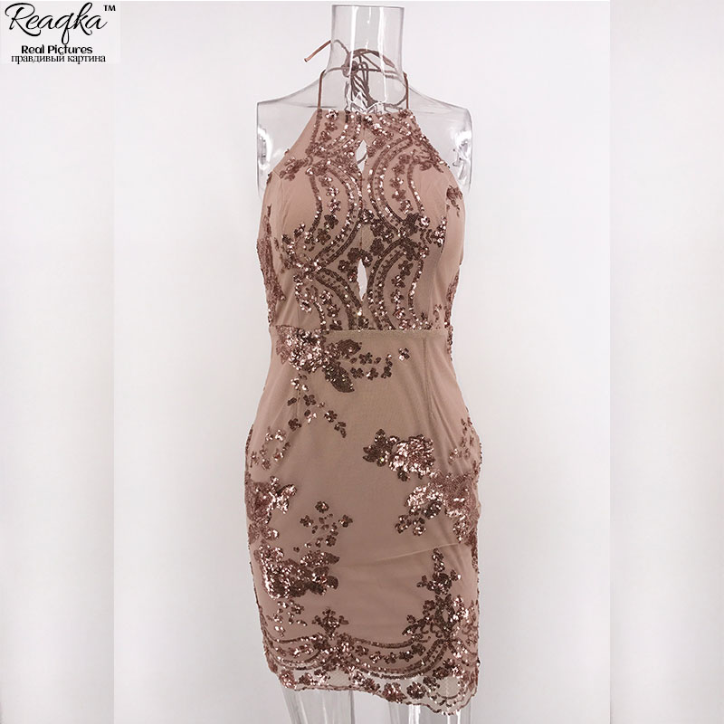 HTB13xFmQpXXXXbWaXXXq6xXFXXXO - FREE SHIPPING Women Halter Bandage Backless Rose Gold mini dresses Floral JKP249