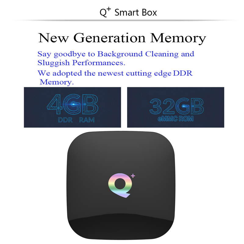 2019 Q Plus Android 8.1 TV Box boîtier de smart TV 4 GB Ram 32 GB 64 GB Rom 1080 p 6 K h.265 USB3.0 IP TV Netflix H6 PK TX3MINI Set Top Box