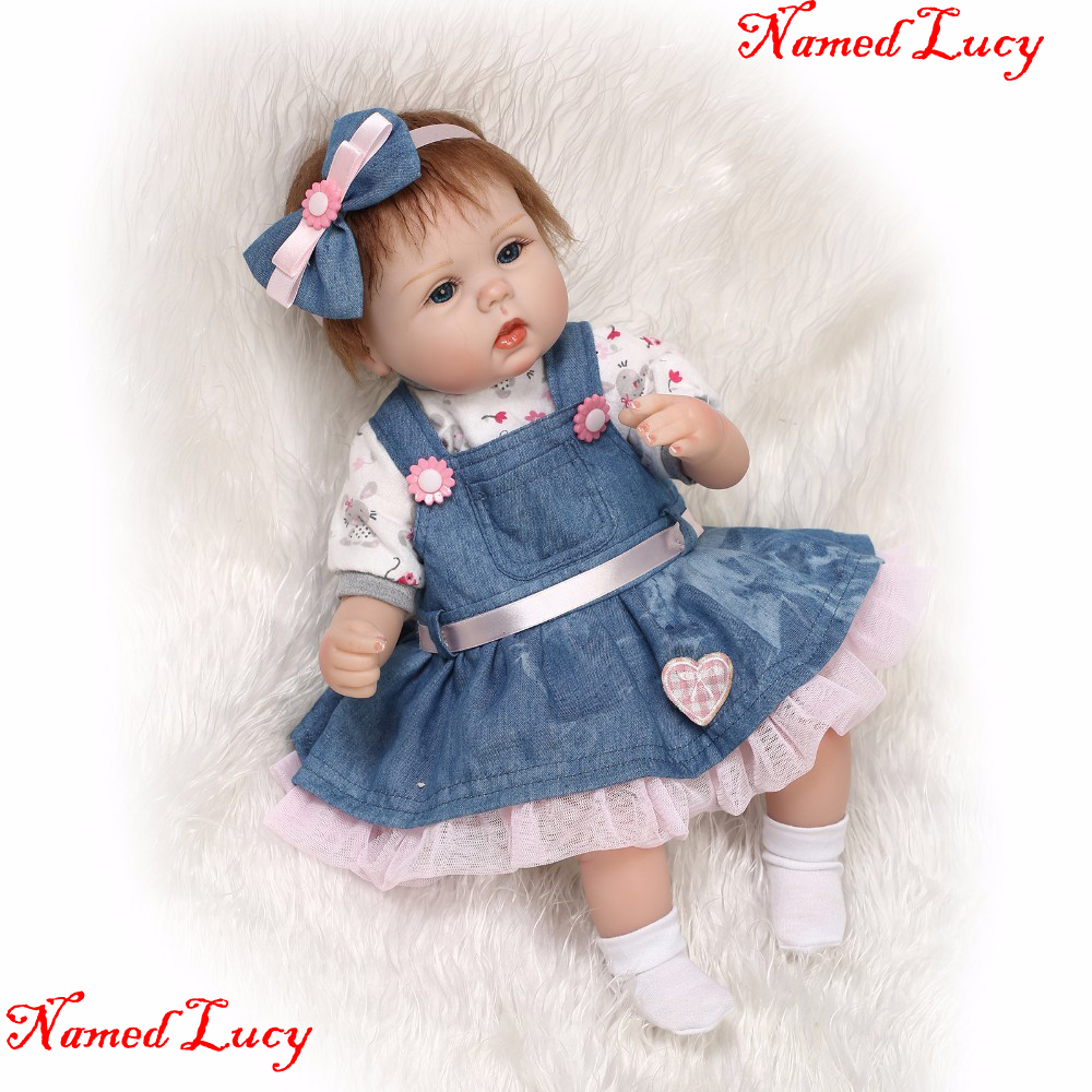 Real Toys For Girls : Bebe cm soft body slicone reborn baby doll toy for girls
