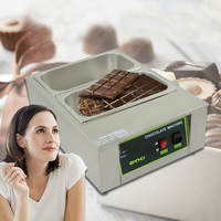 1PC 2 lattice Chocolate melting pot, commercial chocolate melter, baking machine