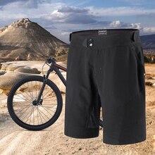 купить Santic Pro Mens Cycling Shorts Black MTB Shorts Fietsbroek Downhill Bike Culotte Ciclismo Hombre M7C05088 дешево