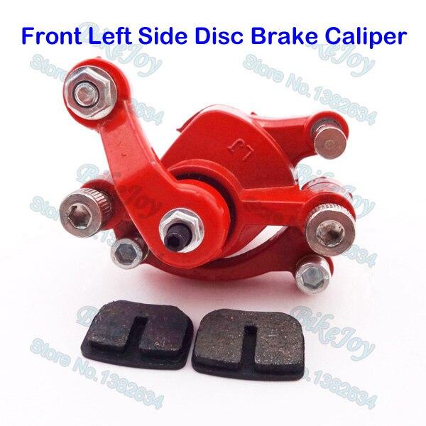 Front Left Side Disc Brake Caliper Red For Mini Gas
