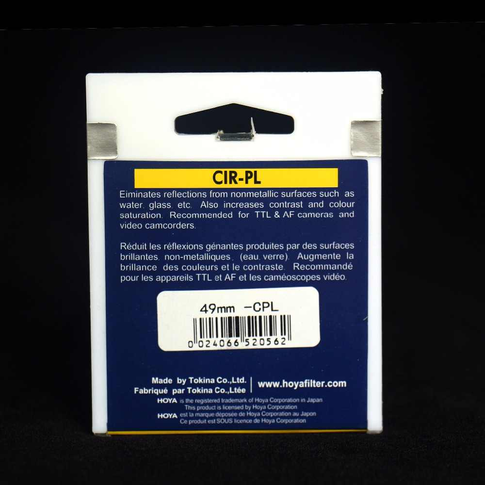 Filtro Polarizador Circular 58mm Hoya-estructura Delgado vendedor del Reino Unido *
